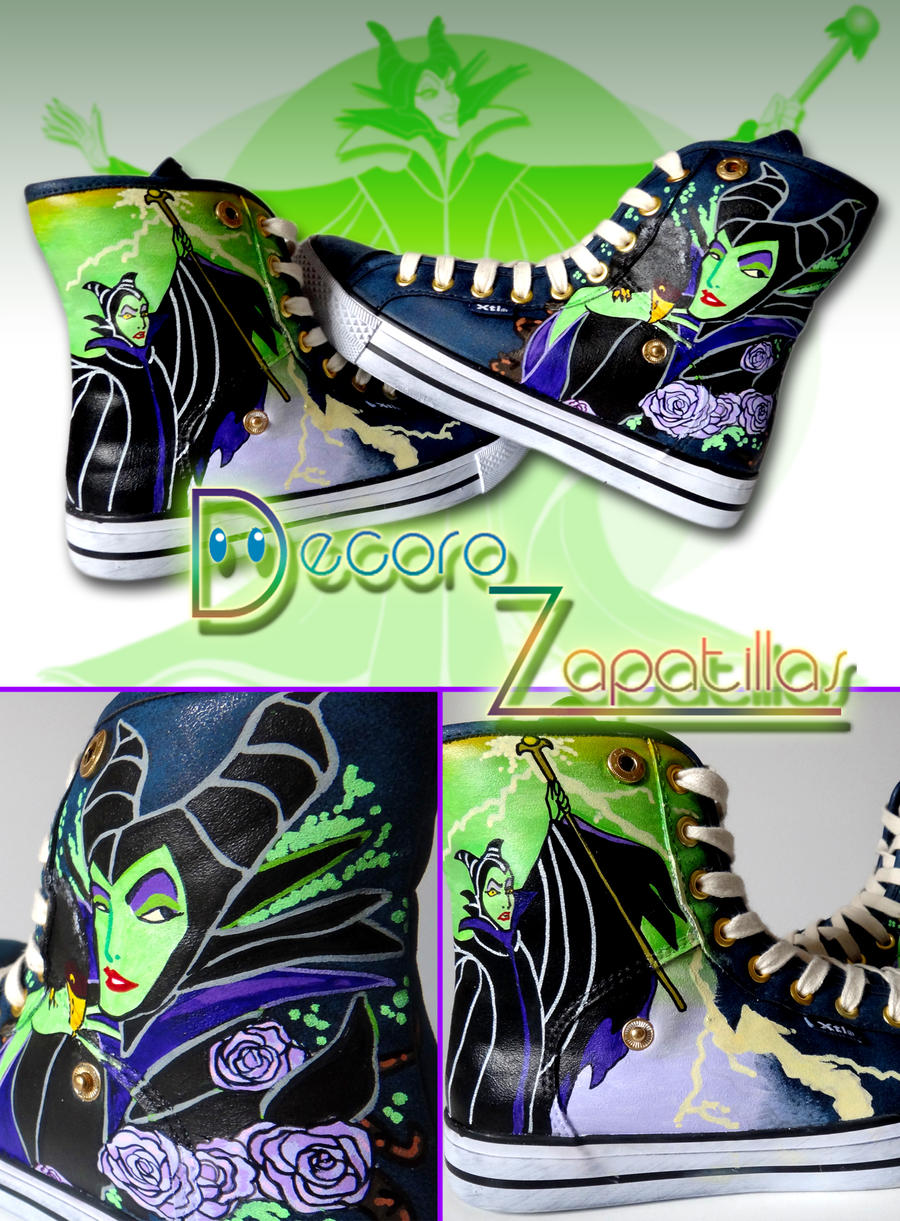 Maleficent Custom shoes by Raw-J