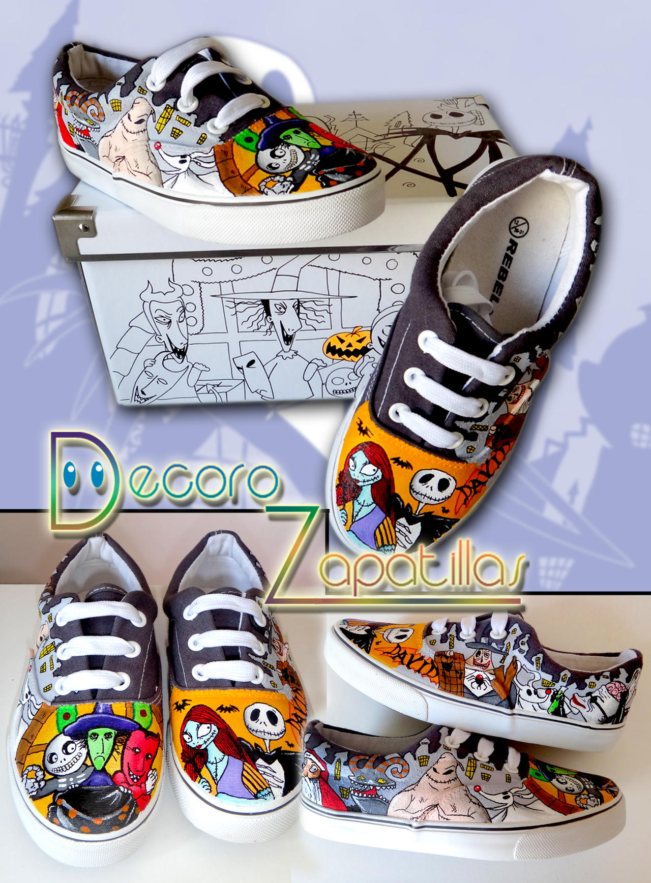 Nightmare Before Christmas shoes by Raw-J on DeviantArt