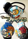 Kingdom Hearts headphones earphones handpainted by Raw-J