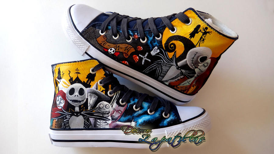 Nightmare Before Christmas custom shoes by Raw-J