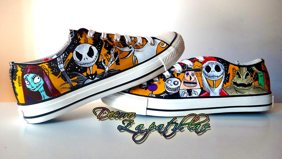 Nightmare Before Christmas custom shoes handmade by Raw-J on ...
