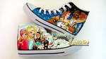 Beaut and Beast- frozen custom canvas shoes high by Raw-J
