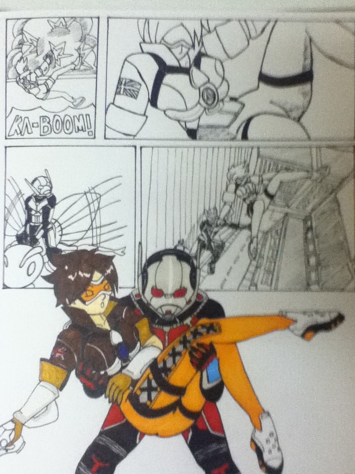 Ant man saves Tracer by Niininaac36