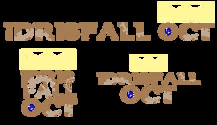 Idrisfall OCT: Logos by ashestoApples