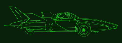 Futuristic Retro Automobile by brunub