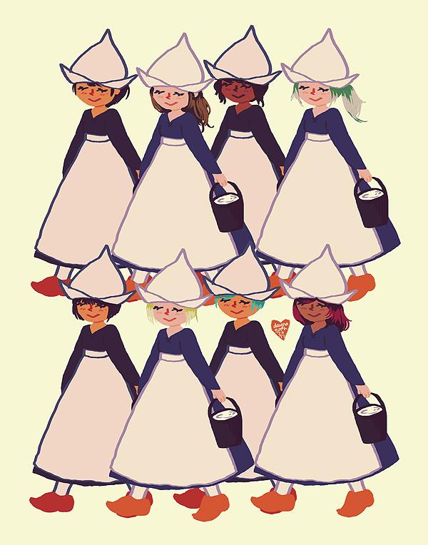 eight maids a-milking by littlemotorcar