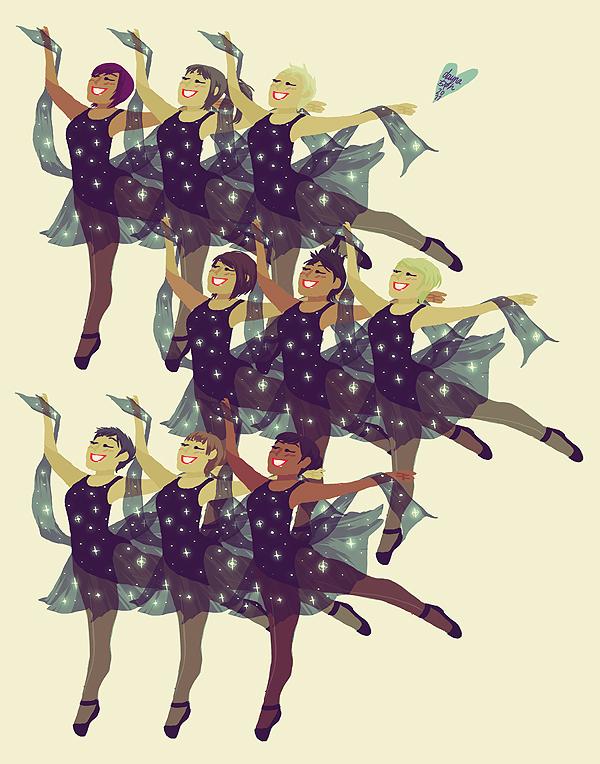 nine ladies dancing by littlemotorcar