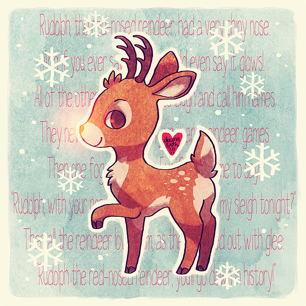 rudolph the red nosed reindeer by littlemotorcar