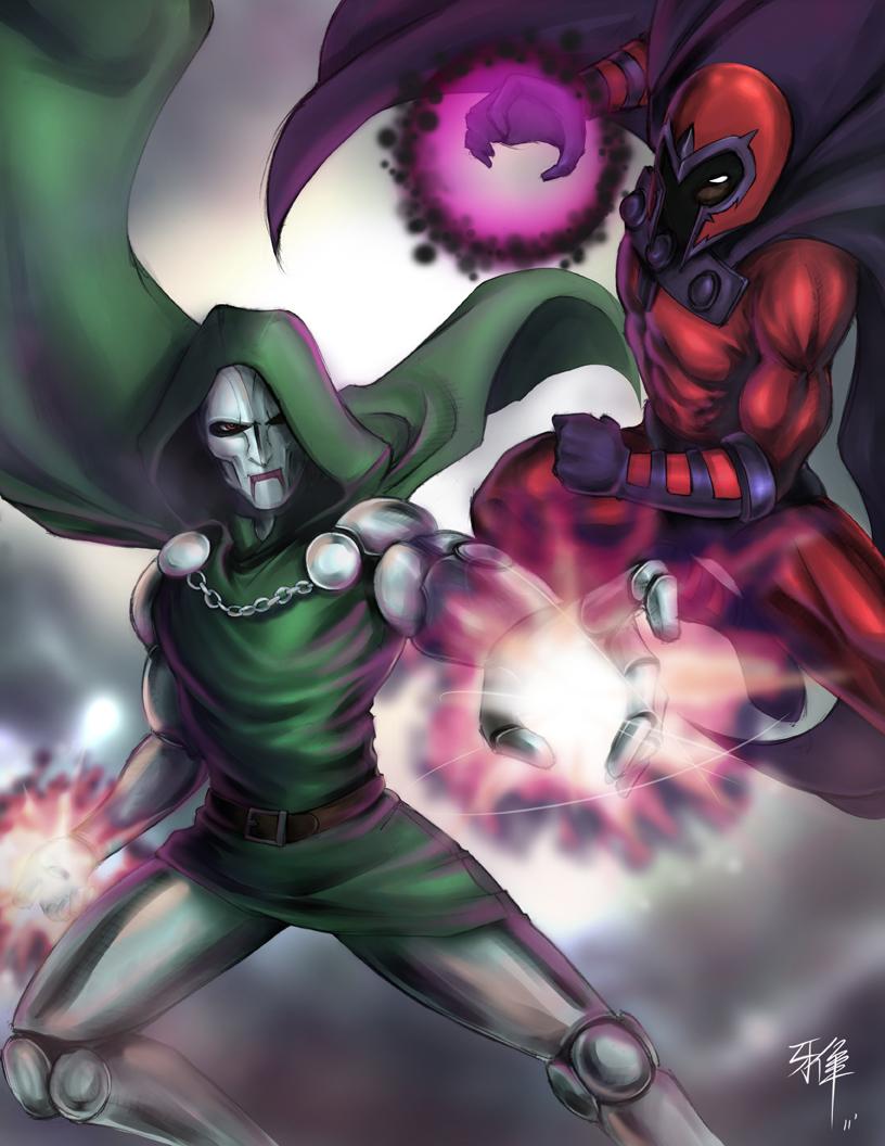 MVC3 - Magneto VS Doom by Anii-Ki