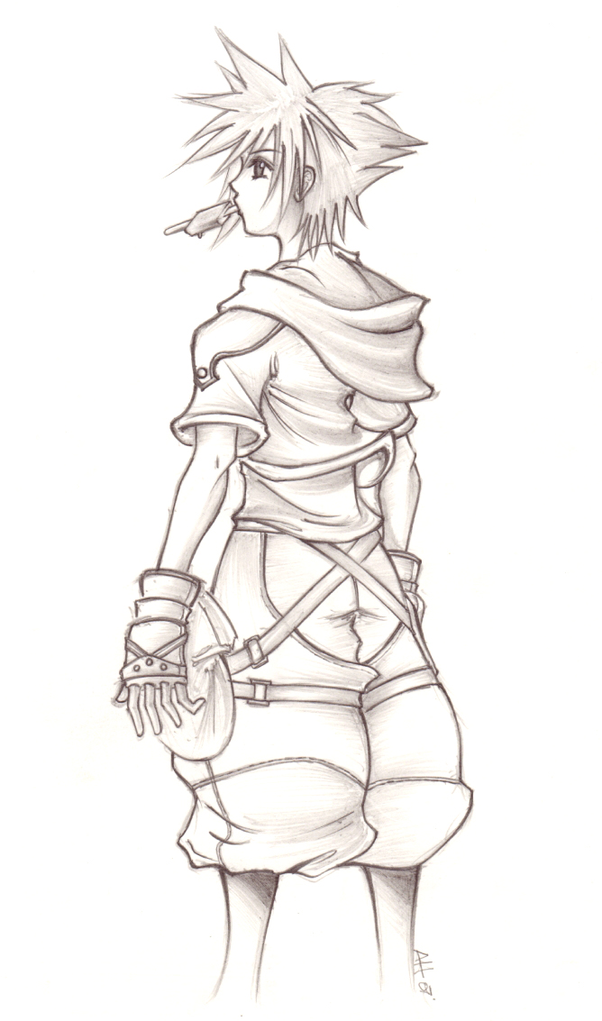 Kingdom Hearts II Sora Sketch by Anii Ki on DeviantArt