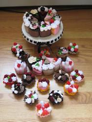 Felt cakes by zetallis