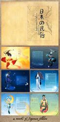 Japanese Folklore Calender by zetallis