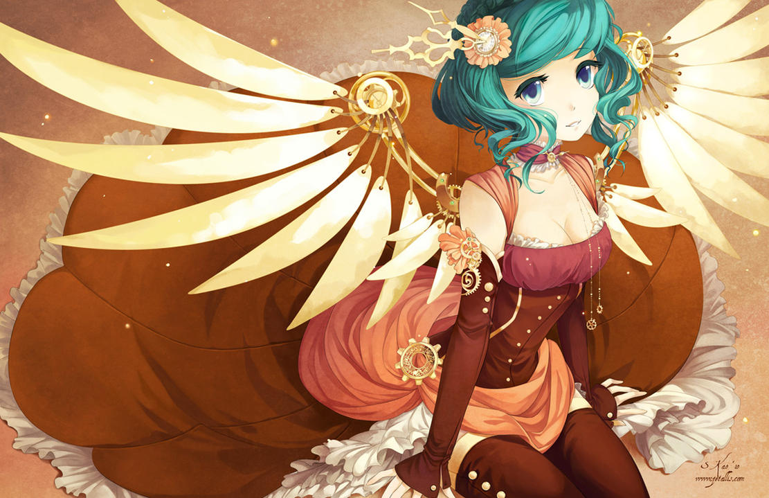 N Anime Character : Steampunk wings by zetallis on deviantart