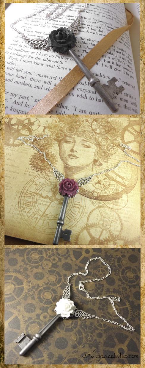 Skeleton Key Necklaces II by zetallis
