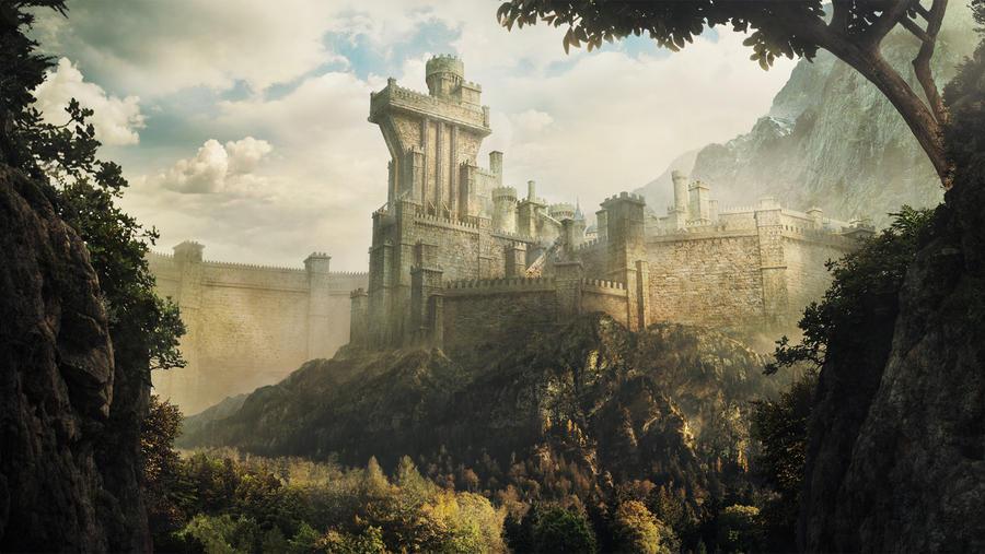 Ancient walled kingdom fin by Daazed-DA