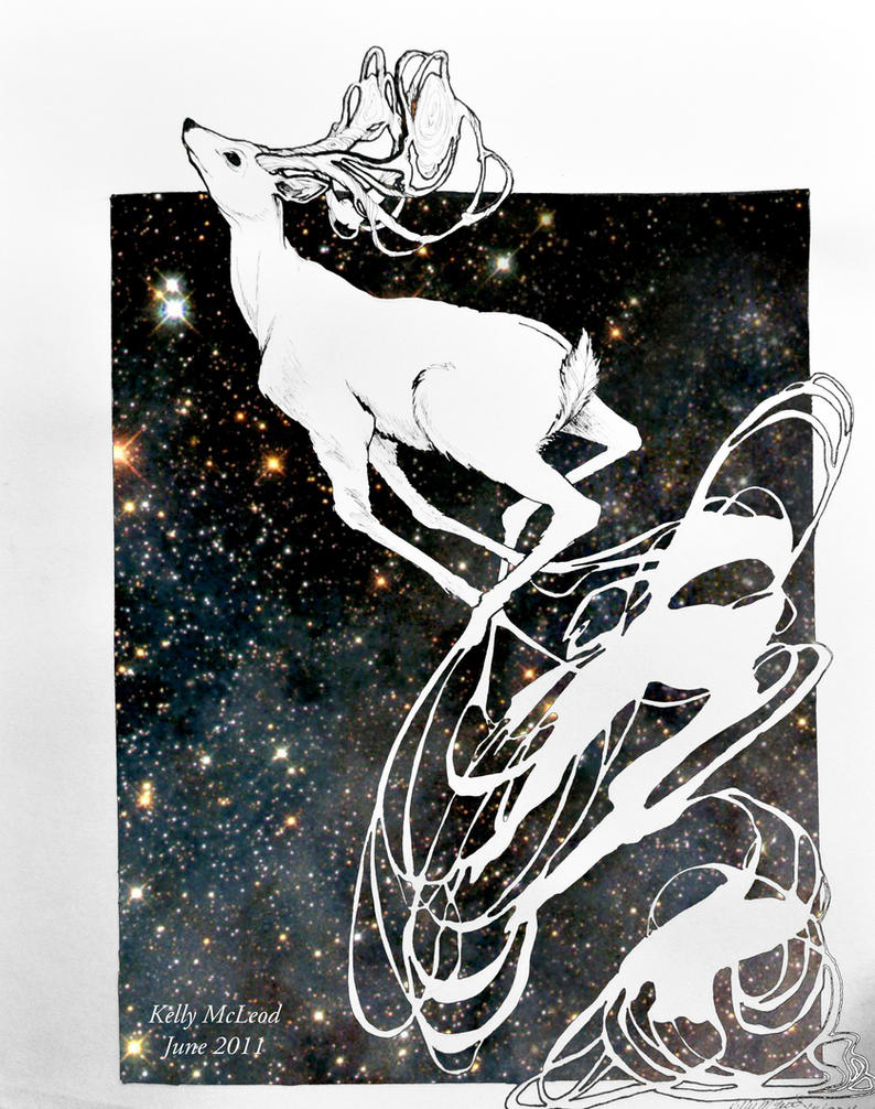 Deerz In Space by simplykeltastic