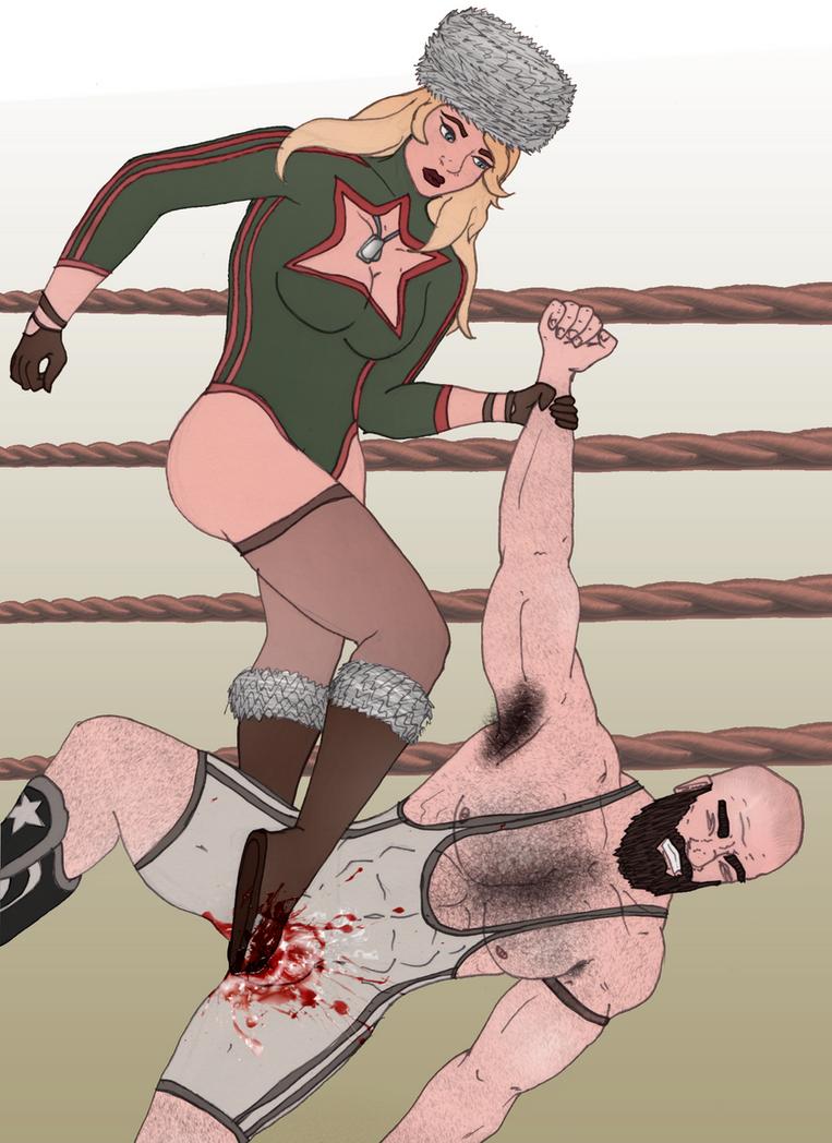 The Russian Bear Wrestler by spiralqq