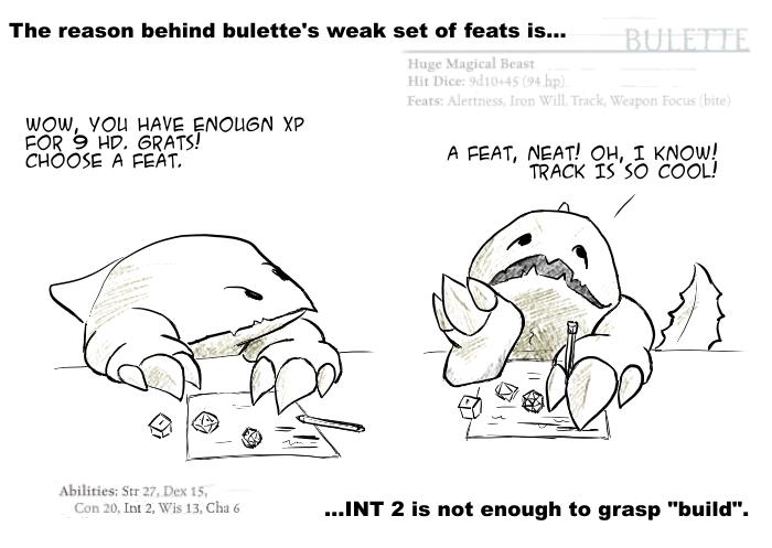 Bulette's feats - eng
