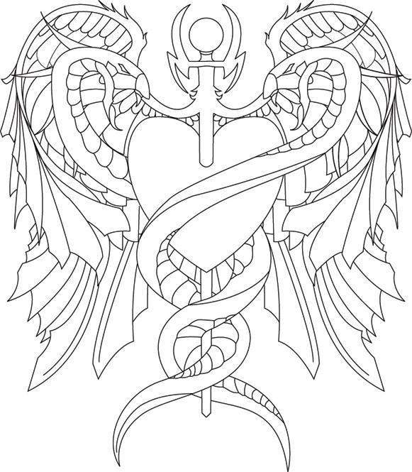 Caduceus Tattoo Outline By Navitz On DeviantArt