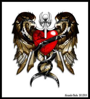 Caduceus tattoo design