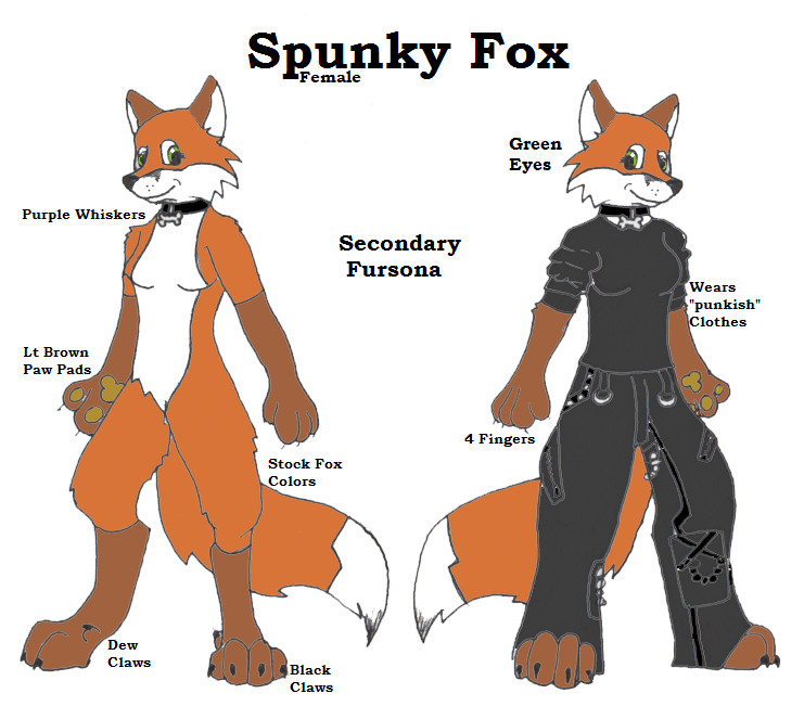 Spunky Fox Ref Sheet by Onai-WolfWind