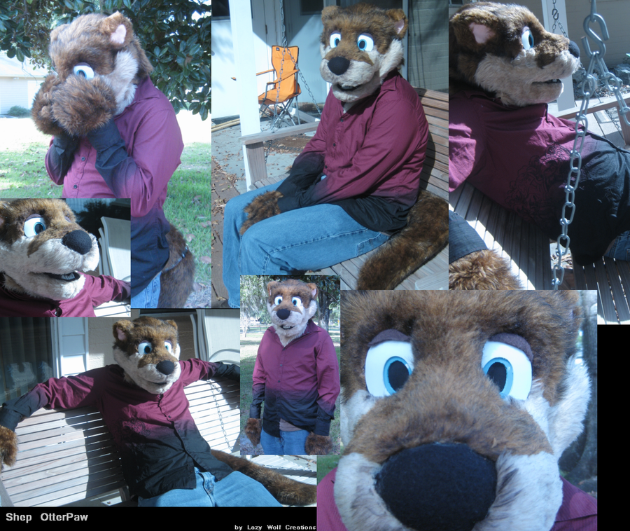 Shep OtterPaw Fursuit by Onai-WolfWind