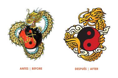 Dragon de Oro Logo Remake by azlath