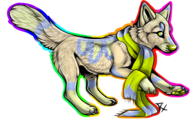 Scarf Wolf Adoptable (1 point) by Theanimaldrawer81604