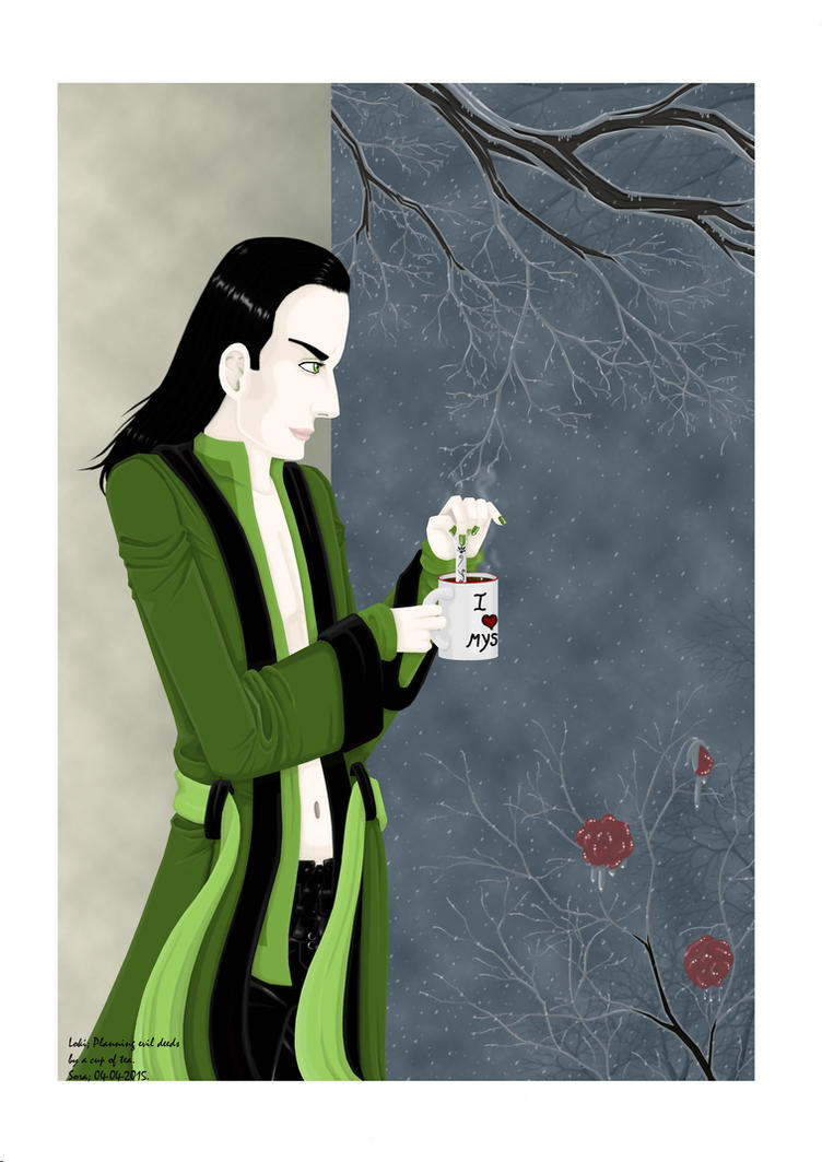 Loki: Planning Evil Deeds With A Cup Of Tea by soradejong