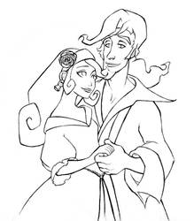 Elaine and Guybrush by tviolaceus