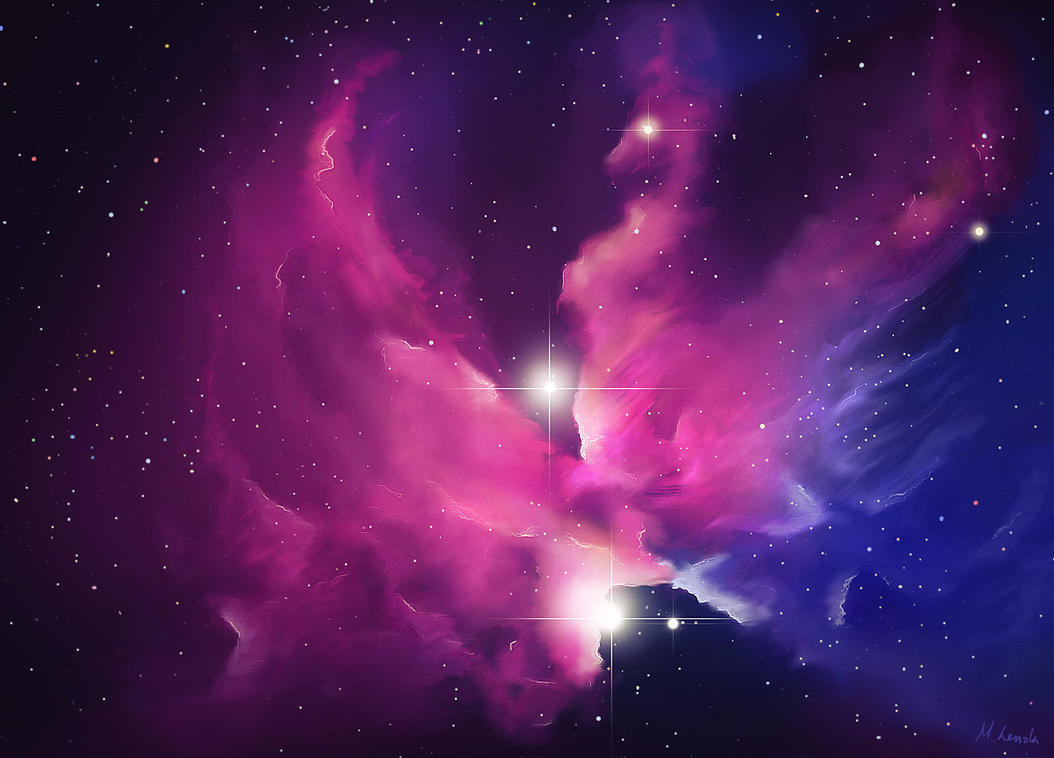 blue and red pheonix nebula - photo #8