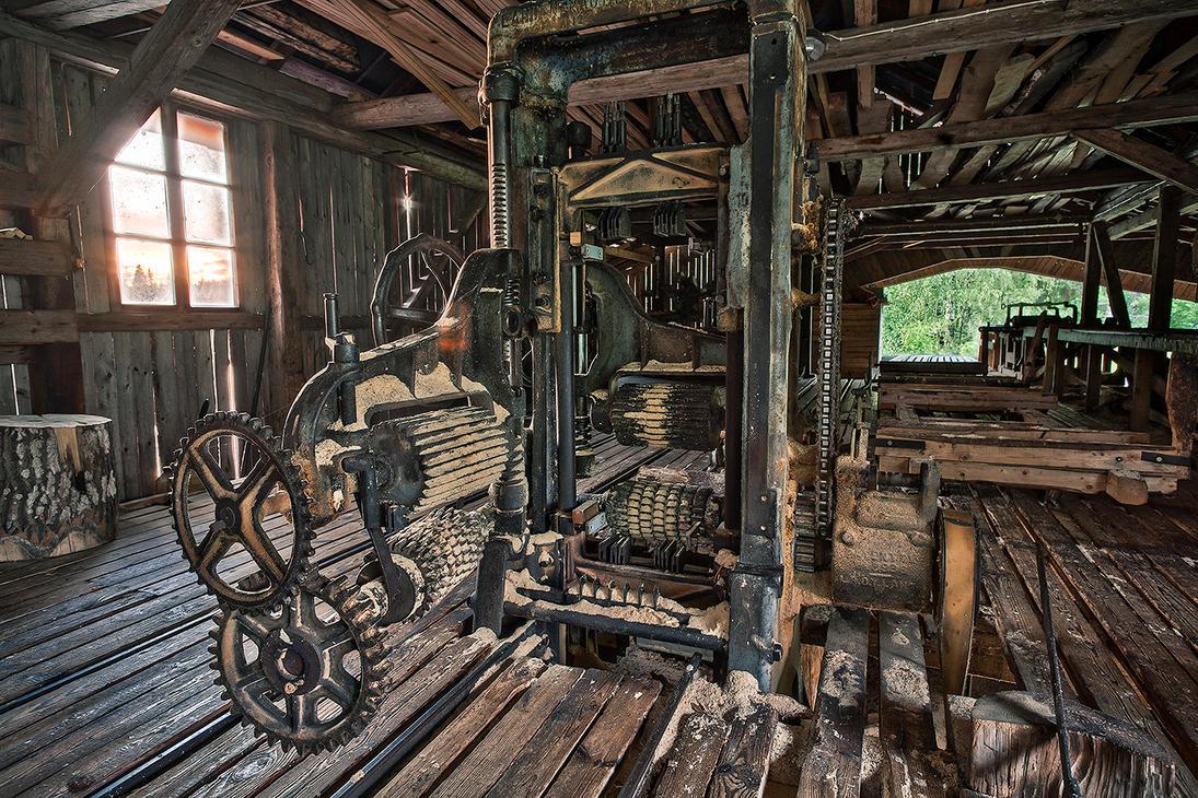 Abandoned sawmill by komedian
