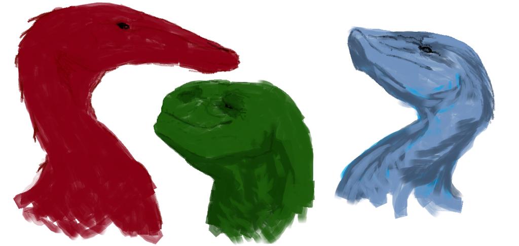 Random Dragons Sketches by Aabysinyaa