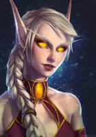 Aeledin Shimmerstar [WoW Portrait Commission] by PurrMia