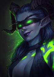 Demon Hunter [WoW Portrait Commission]