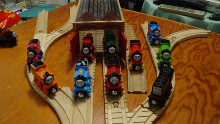 Current Collection of Thomas Wood Trains by ThomasZoey3000