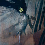 Yellow Flower Girl 4