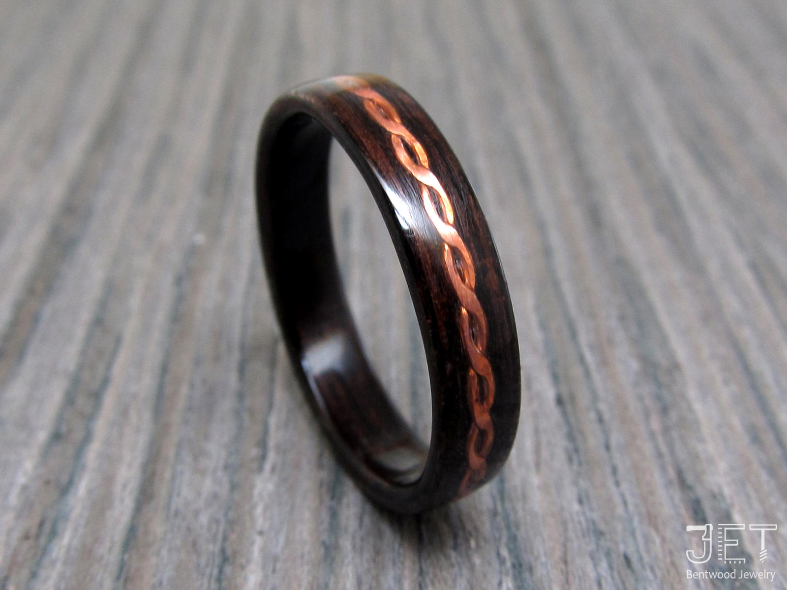 Bentwood Ring with Inlayed Twisted Copper Wire by SycoClown on ...