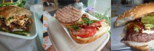 New York, Rib Eye and Sirloin burgers