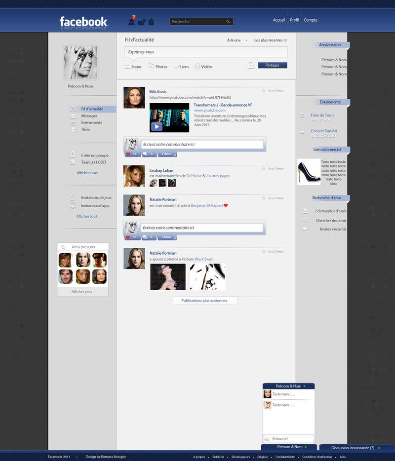 Facebook Re-Design