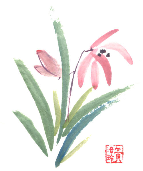 Chinese Painting: Orchids by veatariel on DeviantArt