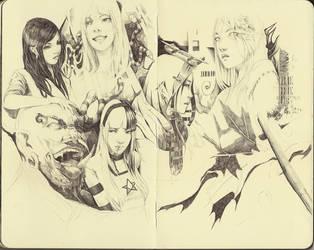 Moleskine Pencil Faces Practice by FinalKnight6