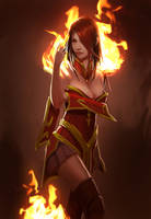 Lina Inverse: Dota 2 by FinalKnight6