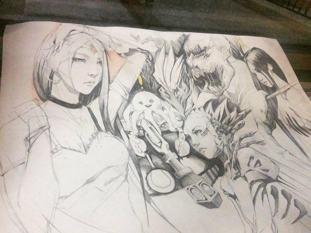 Lunch Sketch by FinalKnight6