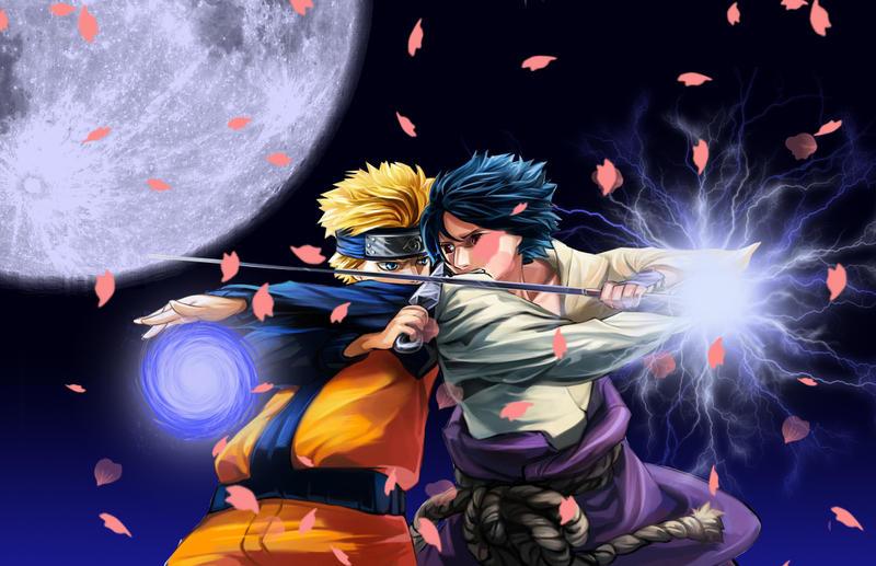 Naruto Uzumaki Vs Sasuke Uchiha Naruto Uzumaki + Sasuk...