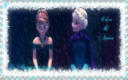 Frozen - Elsa And Anna Stamp by xXLovelyKitty15Xx