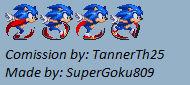 Mod.Gen Sonic Running sprite (Comission)