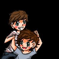Harry+Louis by georgiatheninja