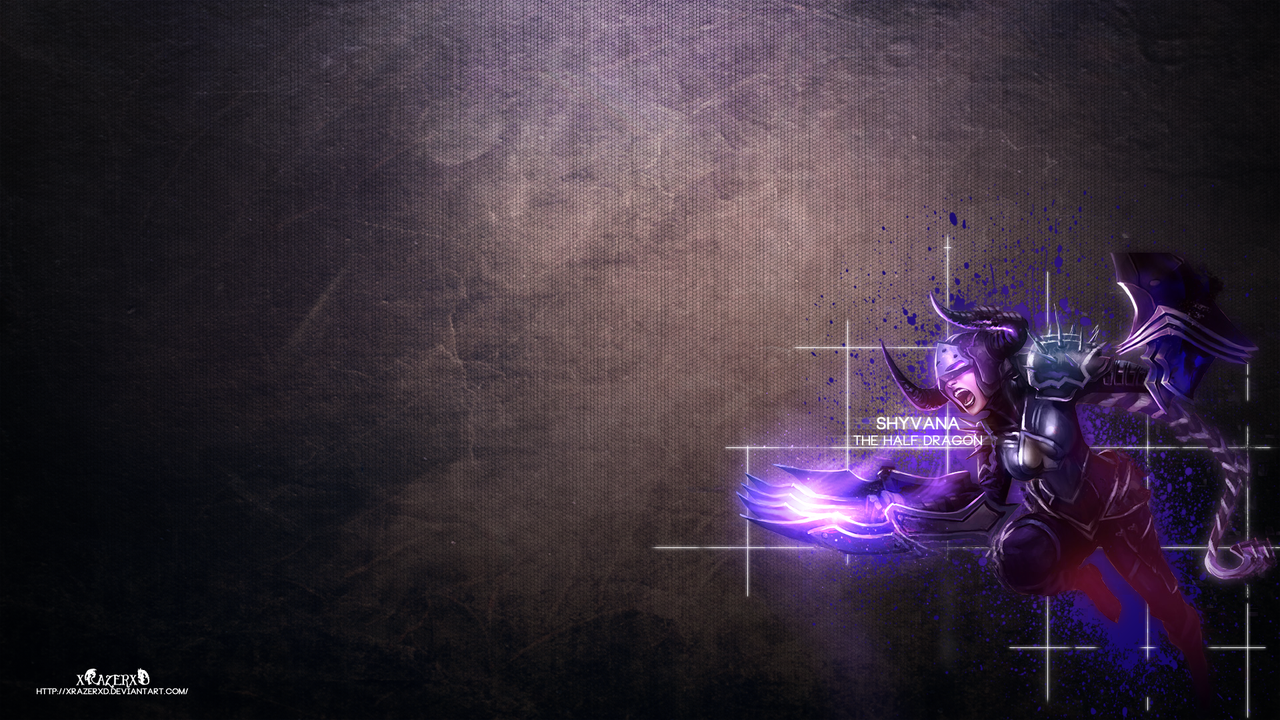 LoL - DarkFlame Shyvana Wallpaper #2 ~xRazerxD by xRazerxD