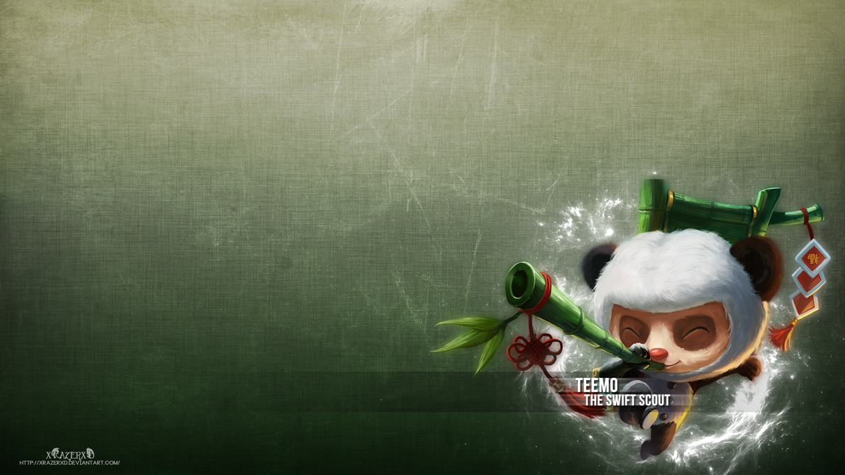 LoL - Panda Teemo Wallpaper by xRazerxD on DeviantArt